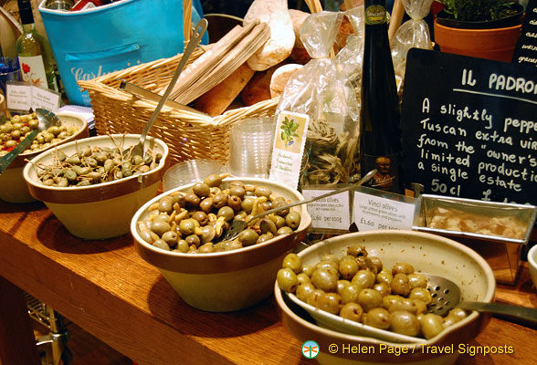 Olives at Carluccio's