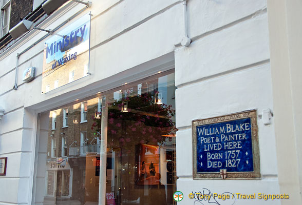 William Blake, poet and painter, lived here