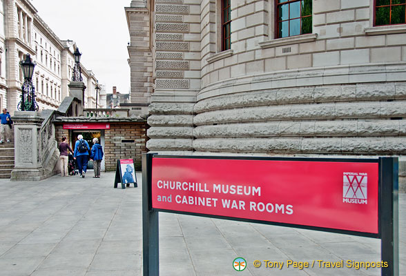 Sign for the Churchill Museum and Cabinet War Rooms