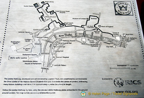 Jubilee Walk map