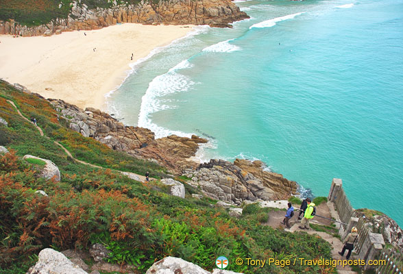 Porthcurno beaches are some of the finest in West Cornwall