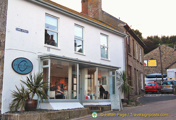 2 Fore Street is a cozy-looking restaurant on Fore Street