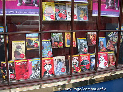Shop window of Blackwell's