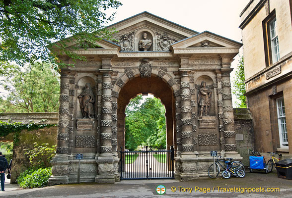 The Danby gateway, built in 1633, is one of the three entrances to the botanic garden