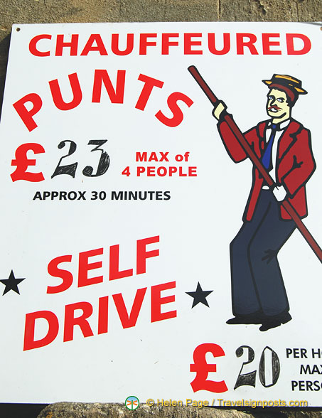 Chauffeured punts or self-drive
