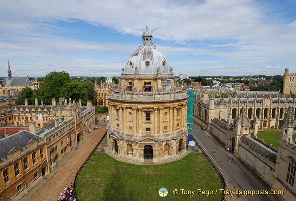 Radcliffe Camera taken from St Mary's Church tower