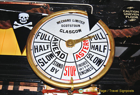 A Ship Telegraph Indicator from Mechans Scotstoun