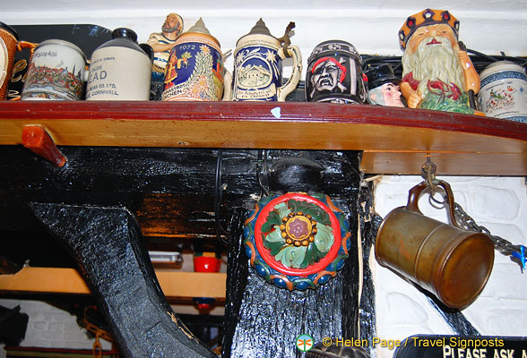 A collection of tankards