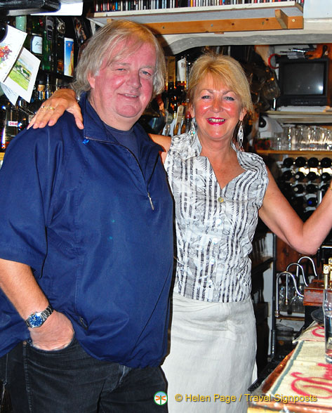 Trish and Allan, owners of Admiral Benbow