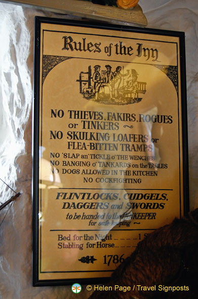 Rules of behaviour in the Inn