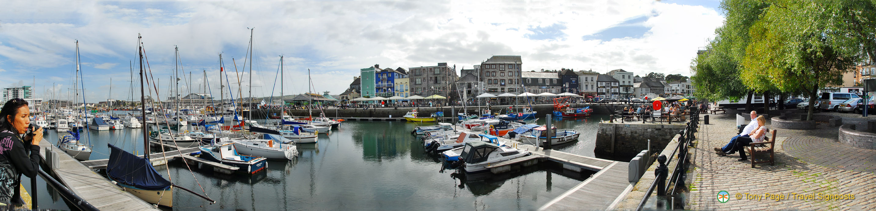 Panorama of Sutton Harbour Marina