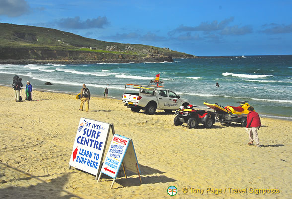 You can learn to surf at St Ives Surf Centre
