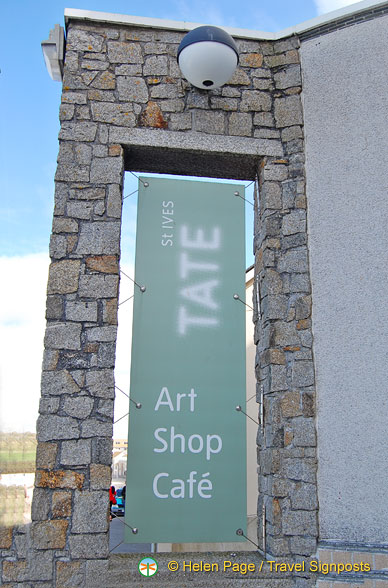 Tate St Ives has a shop and cafe