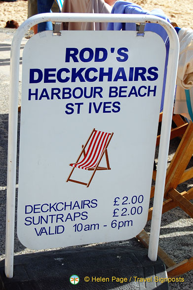 Rod's deckchairs for hire