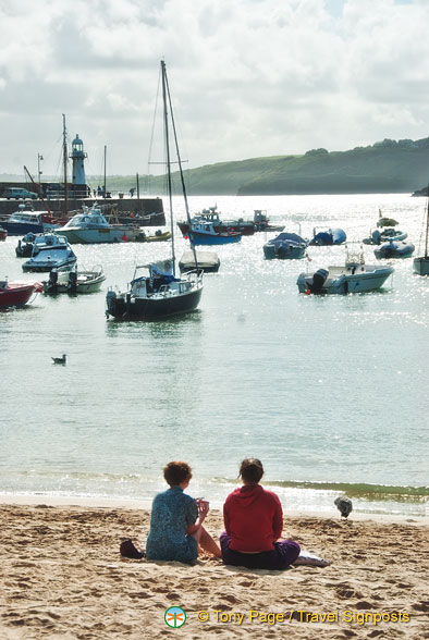 Couple enjoying the beach on St Ives