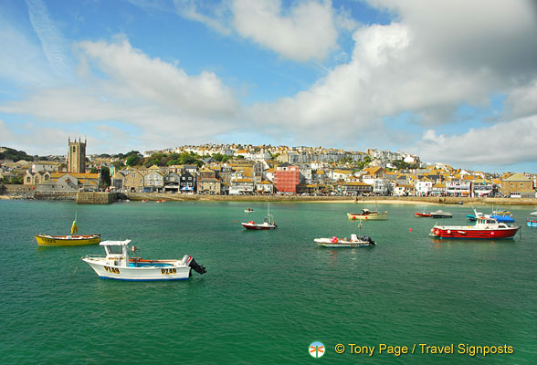 View of St Ives from the lighthouse