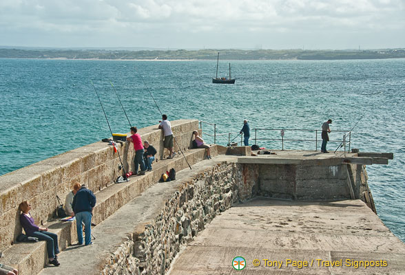 From St Ives pier you get a good view of the town