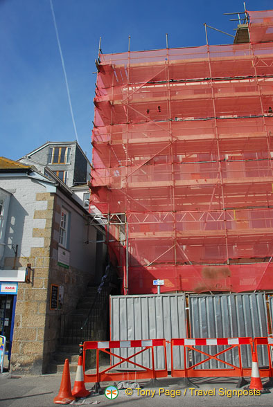 Construction work in St Ives