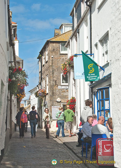A view down Fore Street, St Ives