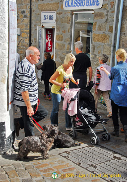 A busy Fore Street in St Ives
