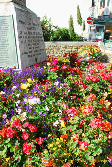 A blaze of colour in the Memorial Gardens