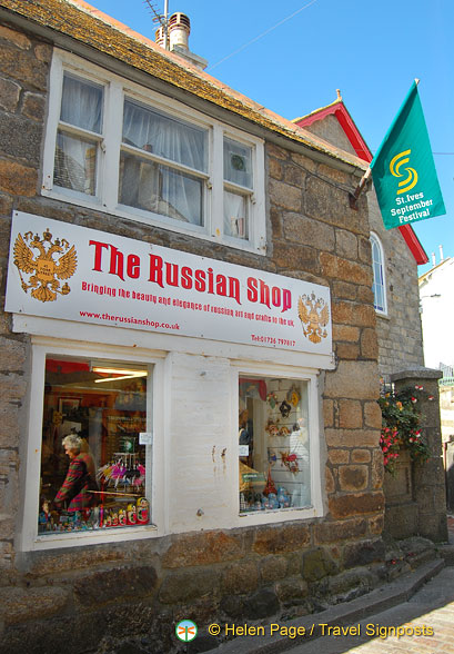 The Russian Shop in St Ives