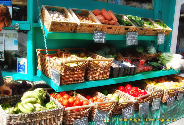 Fresh fruit and vegetables of Cornwall