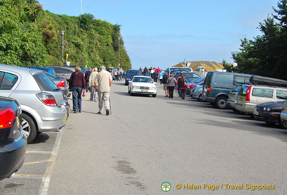 Car park of St Ives train station