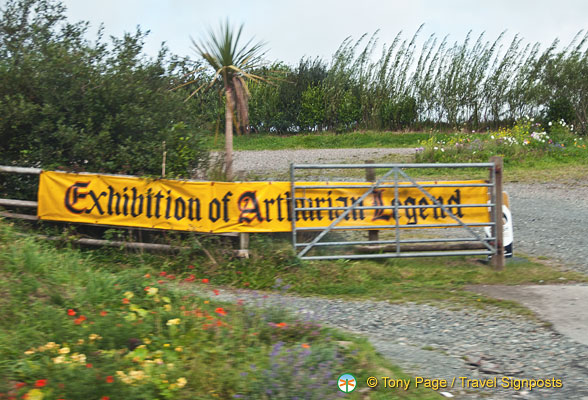 A banner ad for an Exhibition of Arthurian Legend