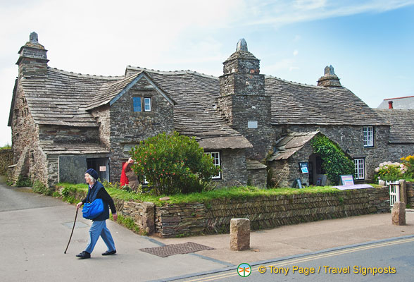 Tintagel Old Post Office - see the wavy roofs
