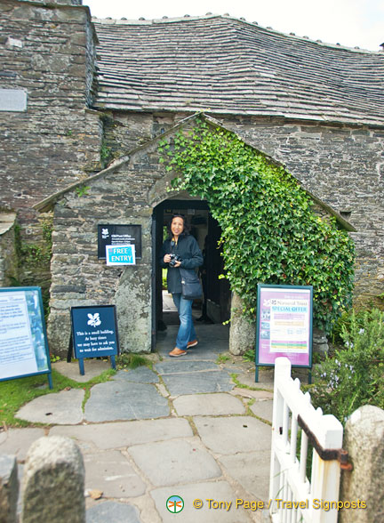 Entrance to the Tintagel Old Post Office