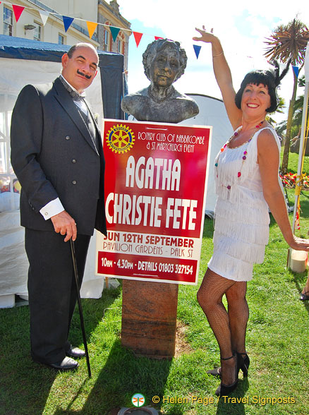 This girl in her Roaring 40s outfit was happy to oblige for a pose with Poirot