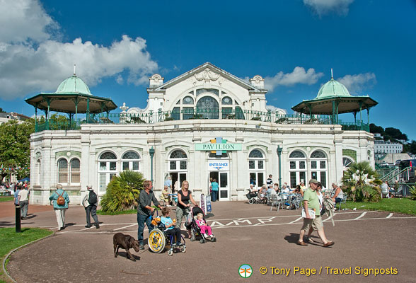 The Torquay Pavillion opened in 1912 as a grand concert hall.