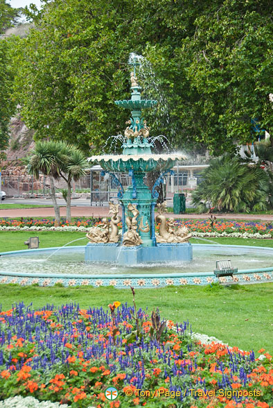 This ornate fountain is in Princess Gardens