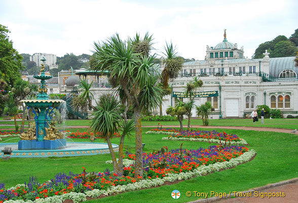 The Princess Gardens is a Victorian design with flower beds and the famous Torbay palms imported from New Zealand.