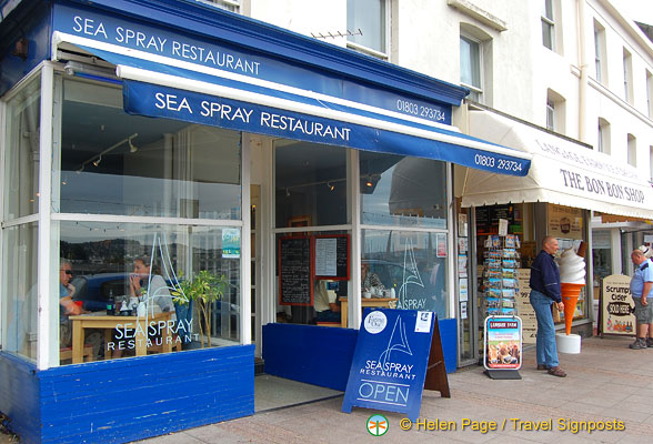Sea Spray Restaurant on the seafront