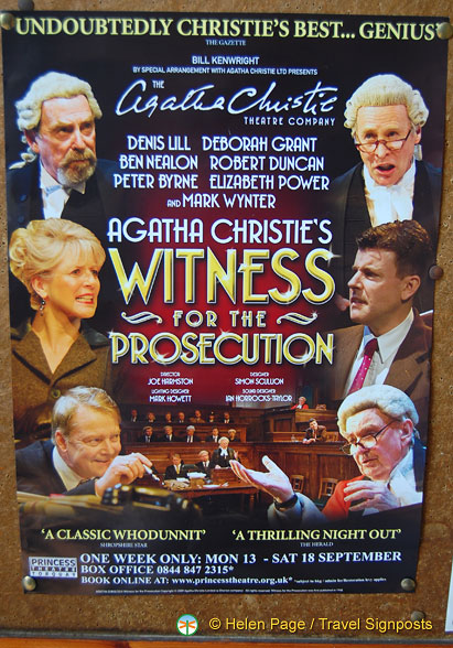 Witness for the Prosecution, a play at the Princess Theatre