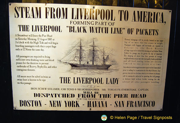 Notice about the Liverpool Lady departing on 12 August 1885
