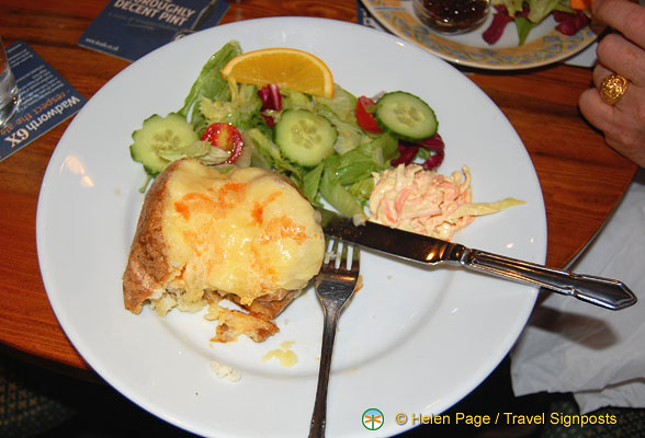Baked potato and salad