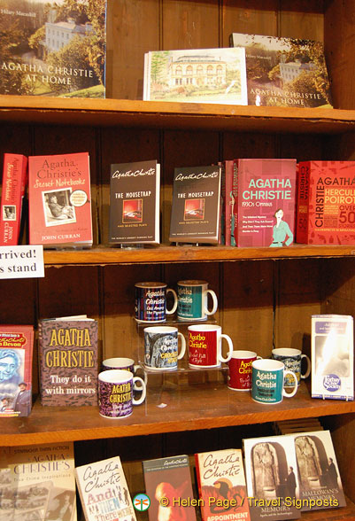 Agatha Christie books and souvenirs at the Museum shop