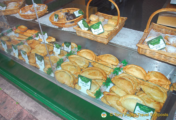 Pasties choices at Oggy Oggy