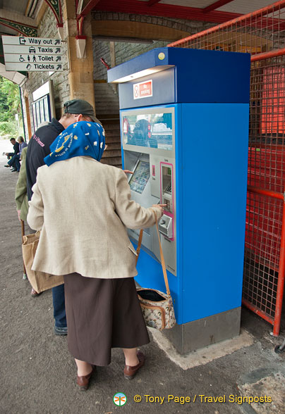 Train ticket vending machine