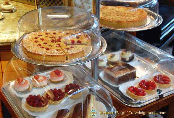 Some of the yummy cakes and pastries at Bettys