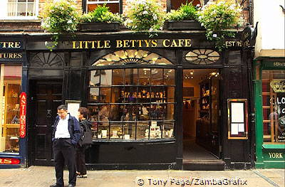 Little Betty's at 46 Stonegate has a variety of home-made Yorkshire specialities