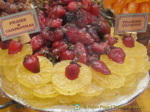 Candied fruits are a specialty from Carpentras