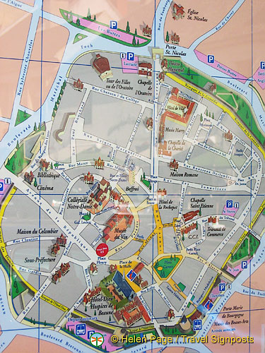 Map of Beaune