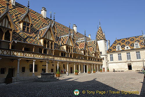 Glazed tile roofs, a symbol of Burgundy