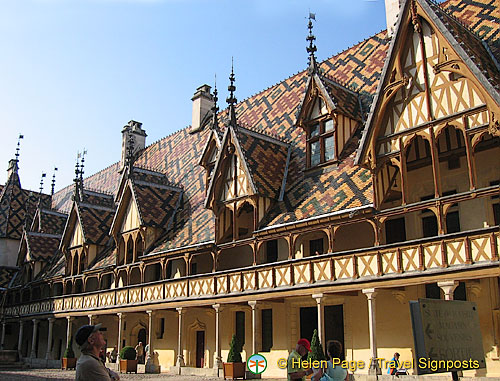 Colourful glazed-tile roof - the symbol of Burgundy abroad