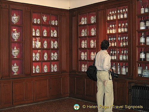 Pharmacy with cabinets of potions