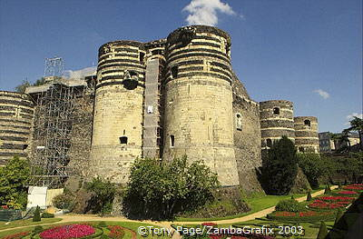 Chateau d'Angers - a fortress and a royal residence of the Dukes of Anjou